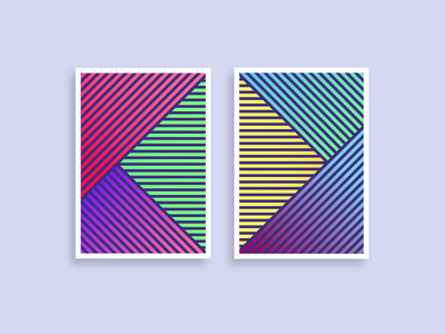 Geometric pattern posters simple clean gradient art abstract colour line