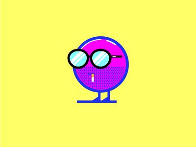 I am a Circle illustration stubble simple shape minimal kids cool flat cute character cartoon bright
