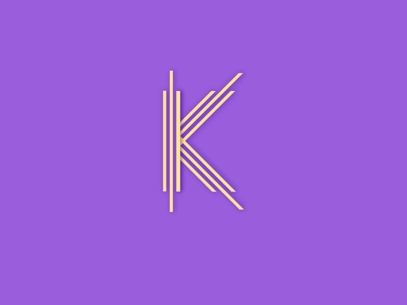 #Typehue Week 11: K line stripe flat typography stroke simple minimal letter