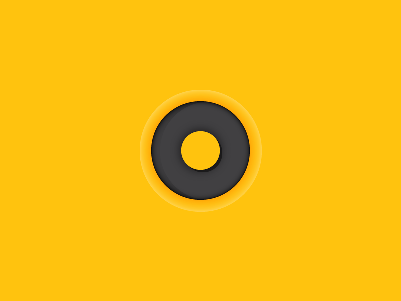 #Typehue Week 15: O 3d shape circle press deboss typography letter