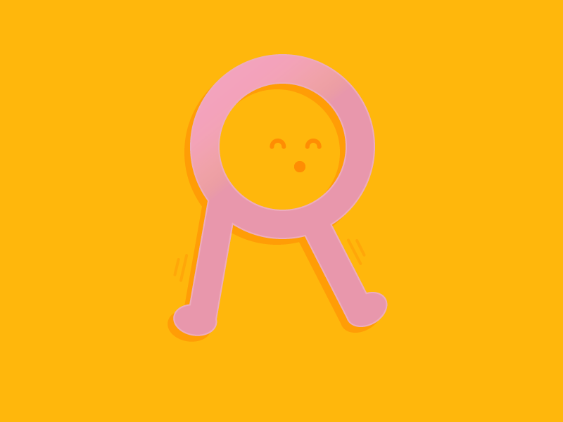 #Typehue Week 18: R shuffle silly cute flat father dad dancing candy alphabet letters type typography