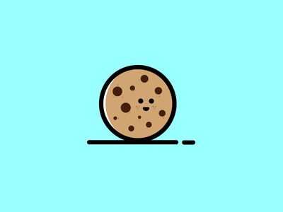 Cookie funny food biscuit design character icon cute cookie