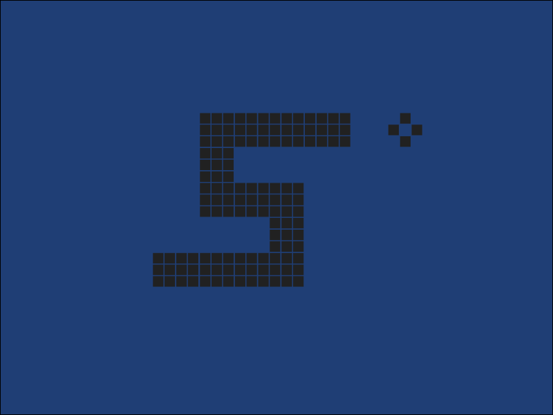 #Typehue Week 19: S brick pixels ui app game mobile phone letter typography nokia snake