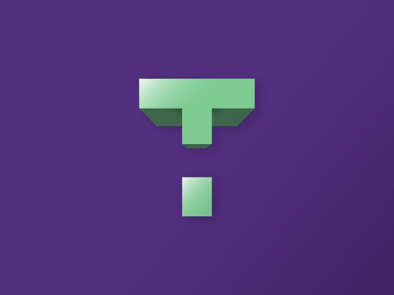 #Typehue Week 20: T transformers logo icon gradient block t illustrator vector lettering typography