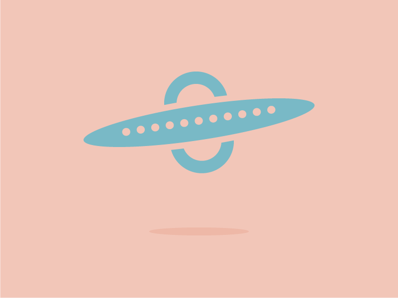 #Typehue Week 21: U illustration design martians fly flying saucer flat lettering typography aliens ufo