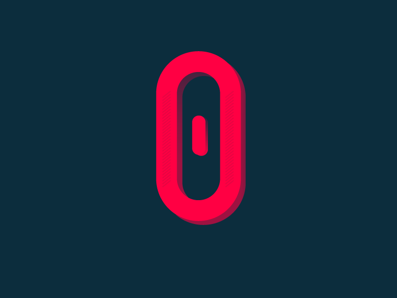 #Typehue Week 27: 0 brand design clean gradient simple zero number icon logo