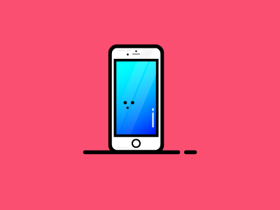 New iPhone tech vector illustration simple design apple cute character icon iphone iphone 8