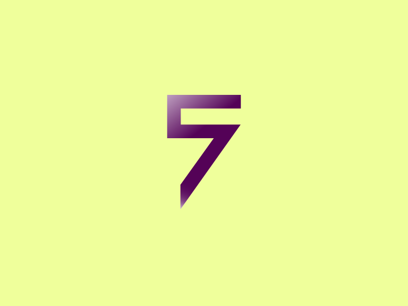#Typehue Week 32: 5 design 7 simple typography negative space brand 57 icon logo number