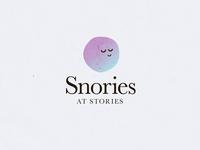 'Snories' logo WIP