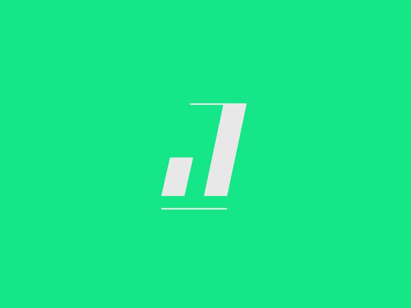 J logo mark simple dynamic bold bright mark symbol sports icon letter typography logo