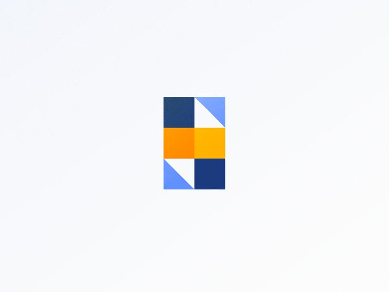 Geometric 'S' lettering typography geometric texture blocks shapes symbol logo pattern