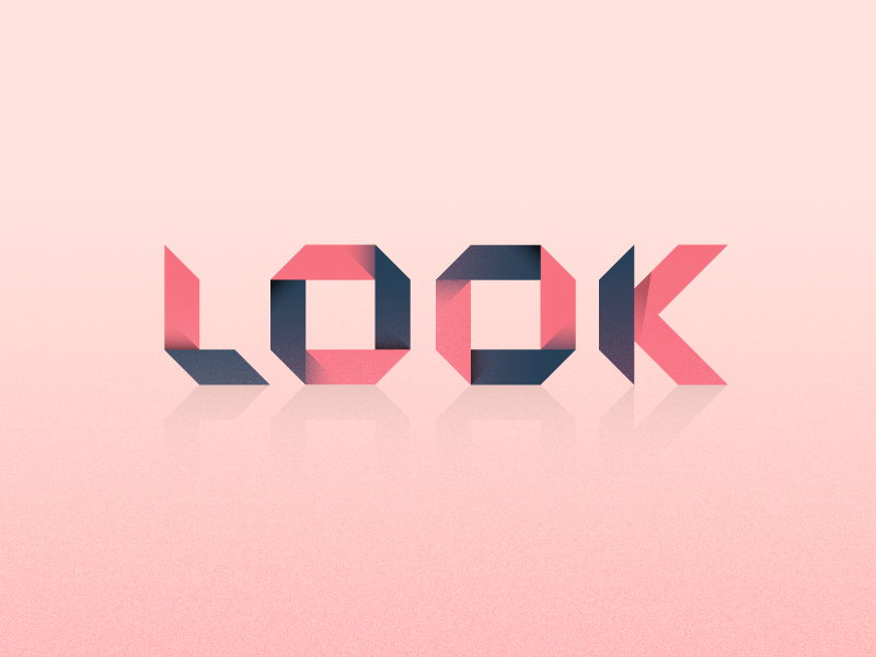 Look - 36 days of type art simple typeface font geometric texture lettering typography