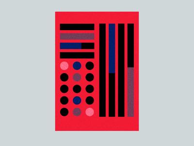 Poster play layout shapes bold grid minimal texture pattern wall art decor art poster vector