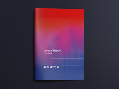 Annual report cover logo grid clean simple typography design print colourful gradient photoshop