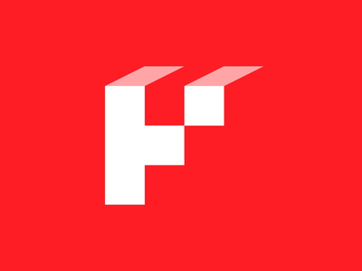 HP Logo Mark minimal simple icon symbol red visual creative lettering typography blocks brand identity concept logo
