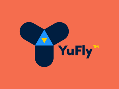 Race Team Logo - YuFly icon symbol vector fly identity shape retro playstation gaming race lettering typography bold logo concept brand