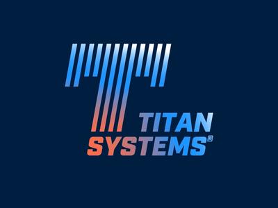 Race Team Logo - Titan Systems lettering typography motion company flat design playstation gaming mark identity symbol icon speed retro gradient brand design