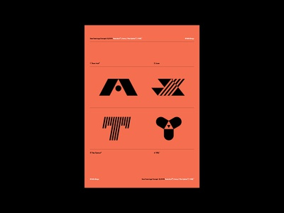 Race Team Logos Collection creative design mark logo futura lettering typography flat minimal simple print coral layout grid symbol icon concept branding
