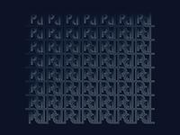P logo pattern