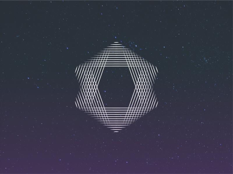 Star simple vector stargaze night pattern lines purple photo stars sky illustration illustrator design black