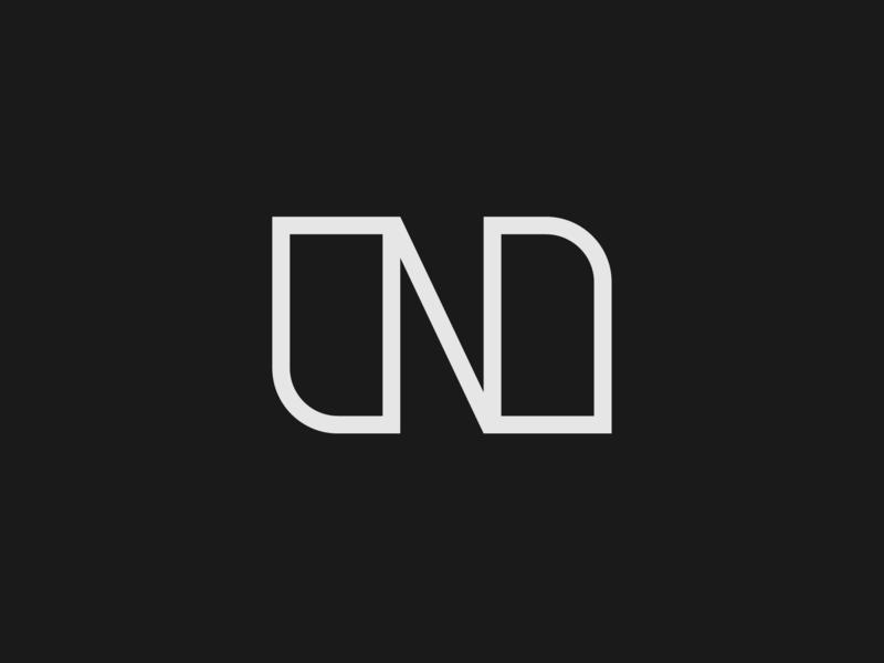 N & N thicklines curve character vector branding flat concept idea minimal symbol icon type logo typogaphy mono design monogram logo