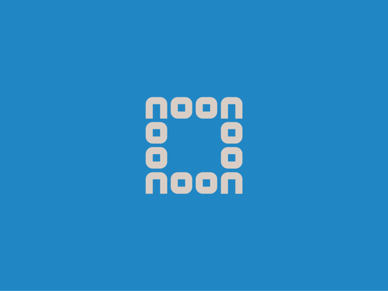 Noon shape pattern repeat fun symbol minimal icon vector print palindrome lettering flat design typography logo simple