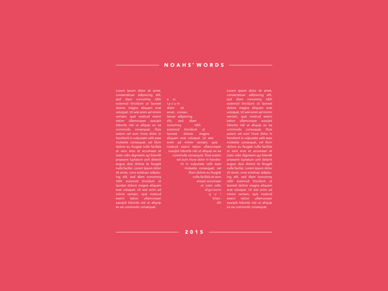 Noahs words poster test graphic design poster art wall art flat letter simple design minimal lettering phrases word art layout red poster type design typography simple
