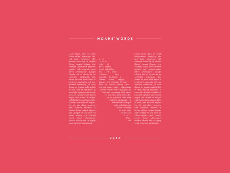 Noahs words poster test graphic design poster art wall art flat letter simple design minimal lettering