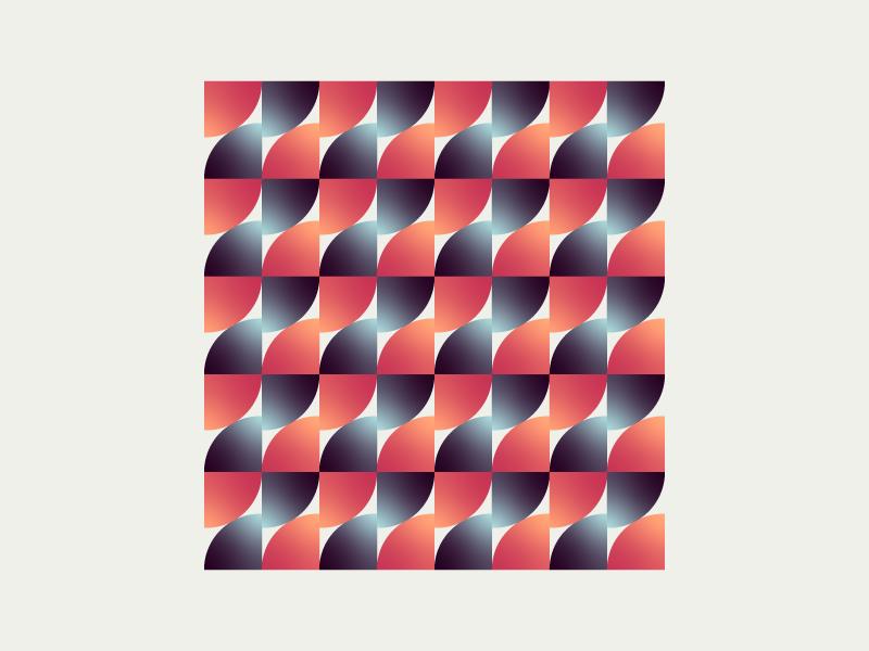 Wave artwork style pattern art movement pattern repeat wallart symbol gradient decor clean adobe art vector design illustration simple
