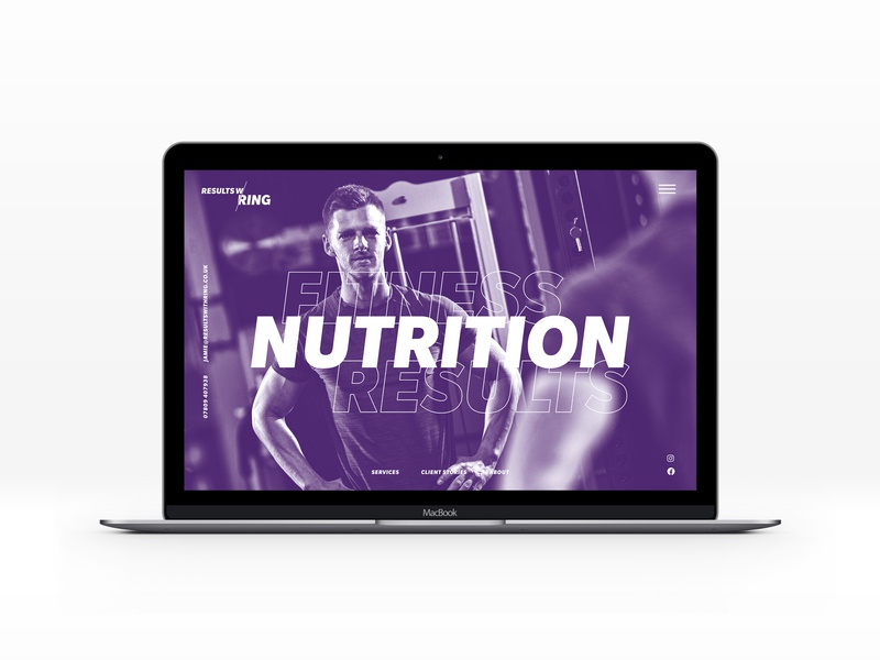 Results with Ring website concept purple gym fitness nutrition concept idenity websites landing page web concept website web icon logo design ux ui branding typography