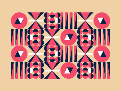 Pattern colour clean vector poster fun blocks symbol style shapes retro repeat illustrator illustration geometric flat art