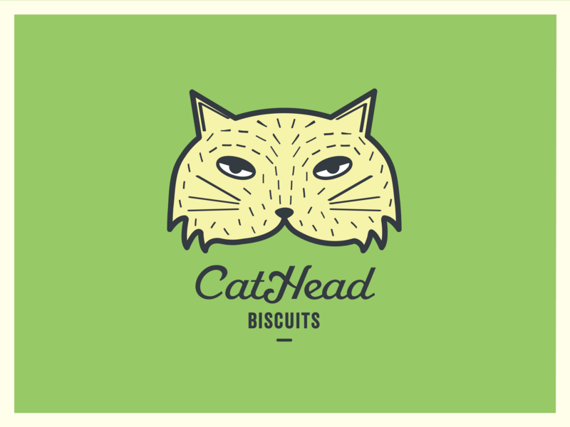 Cathead Biscuits logodesign graphicdesign brand identity brand design branding marks logo feline mark cat logo cat illustartion illustration cat