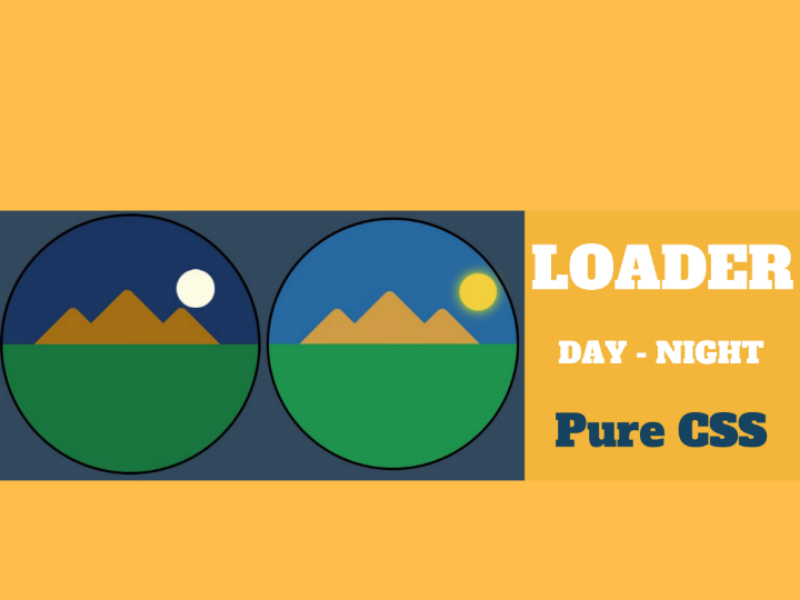 Loader CSS css loader animation day night