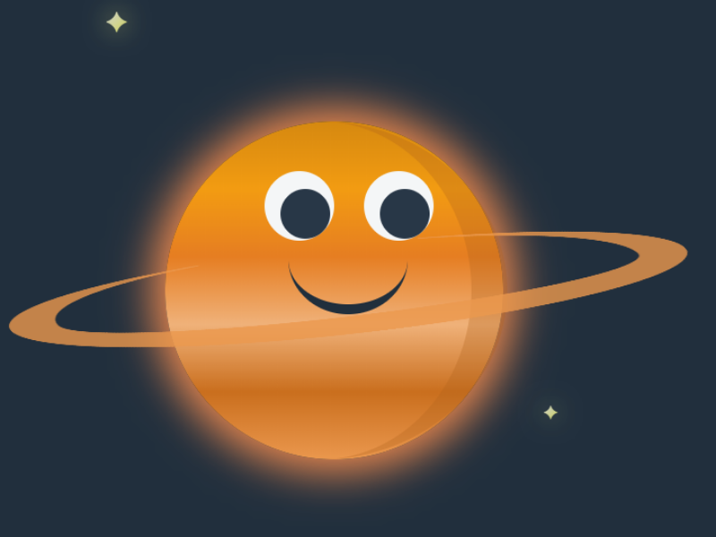 Saturn CSS planet css html saturn