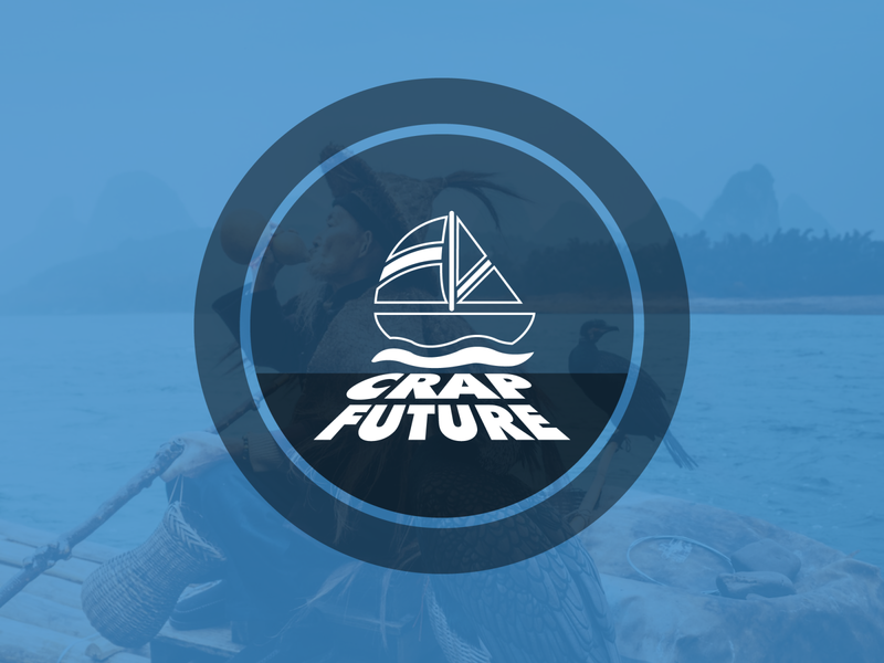 Crap Future app icon design logo illustration brand minimal vector branding logo design