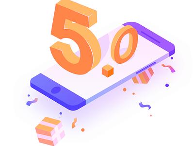 5.0 NEW splash iphone illustrator 5