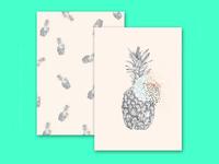 Ananas postcards