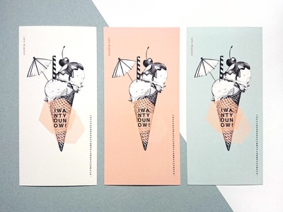 Icecream prints fineart art typography sketch biro summer mint cherry icecream prints tictail