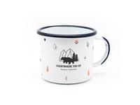 "Everywhere you go, enamel mug ""bear"""