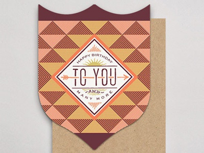 And Many More... handlettered letterpress badge card