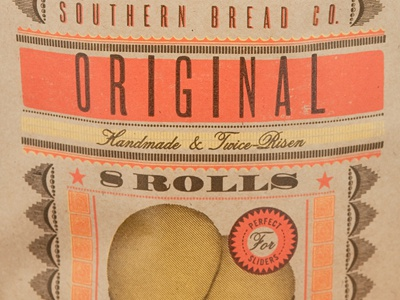 Anna Mae Southern Bread Packaging (Detail) logo packaging design