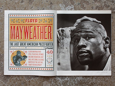 Floyd Mayweather Art magazine design