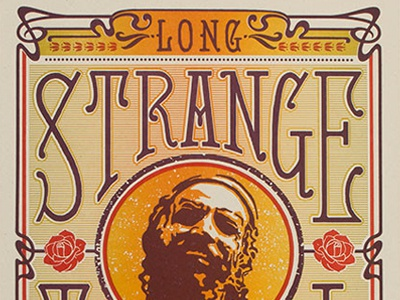 Long Strange Tripel (Detail) letterpress design poster