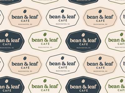 bean and leaf badge pattern cafe logo coffee shop logo cafe coffee shop logo designs brand identity brand design branding brand badge logo logo logo design