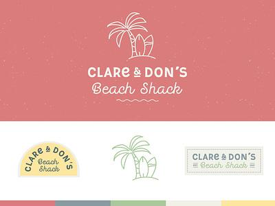 Clare & Don's Beach Shack | Logos logo logo design brand identity retro typography brand design branding beach bar