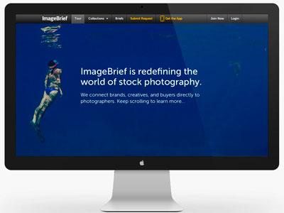 ImageBrief: Art Buyer Landing Page