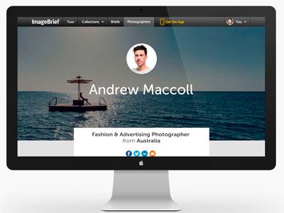 ImageBrief: Photographer Profile Page