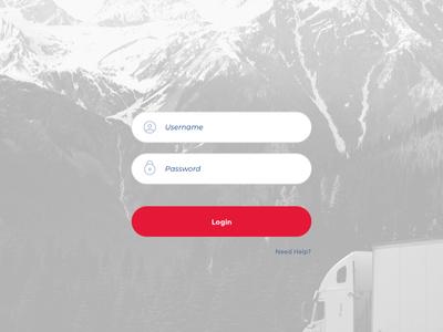 Login Screen — Shipping Dashboard