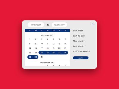 Date Picker — Shipping Dashboard