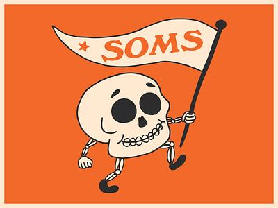 Skull of Minor Success success bonding team building studio design illustration skull retro vintage sketch